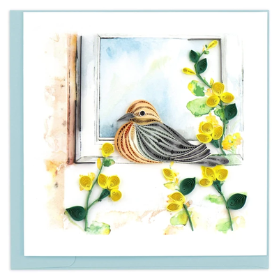 Quilling Card Mourning Dove Quilled Card