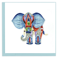Quilling Card Abstract Elephant Quilled Card