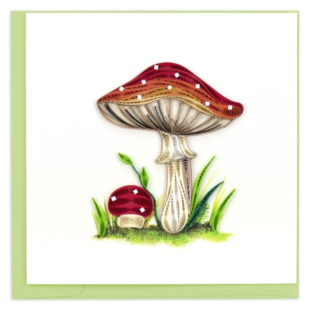 Quilling Card Wild Mushroom Quilled Card