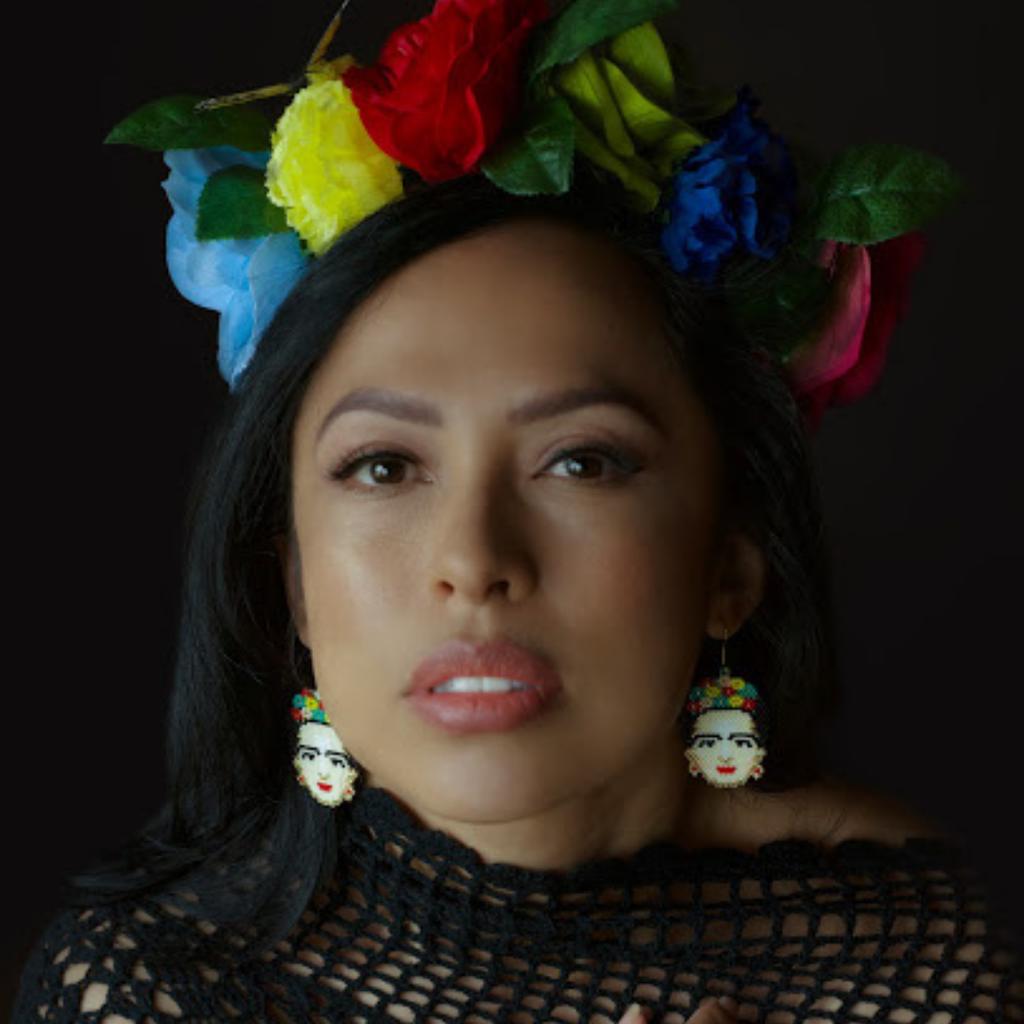 Tulia's Artisan Gallery Frida Kahlo Glass Bead Earrings