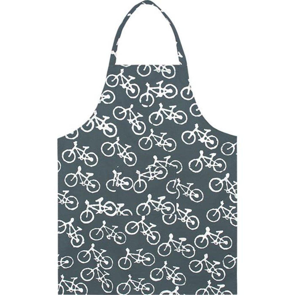 Global Mamas Reversible Apron: Charcoal Bikes