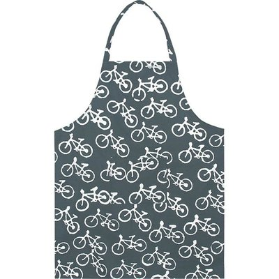 Global Mamas Reversible Apron: Charcoal Bikes