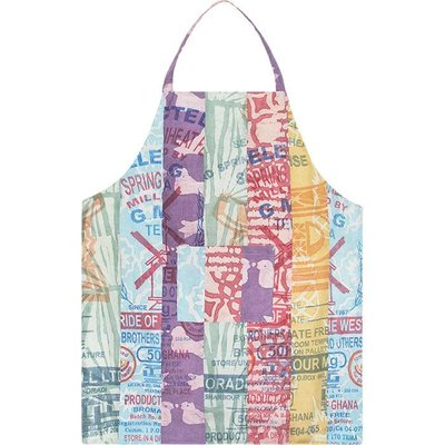 Global Mamas Reversible Apron: Light Stripes
