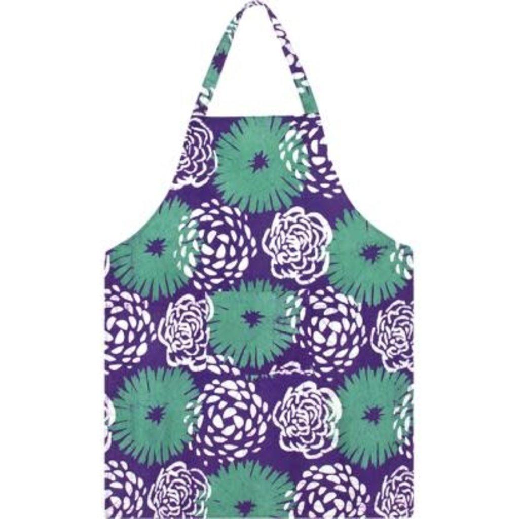 Global Mamas Reversible Apron: Eggplant Garden