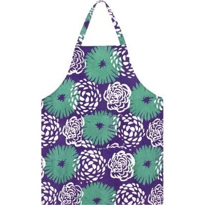 Global Mamas Reversible Apron: Eggplant Garden