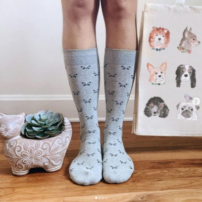 Conscious Step Socks that Save Cats: Grey