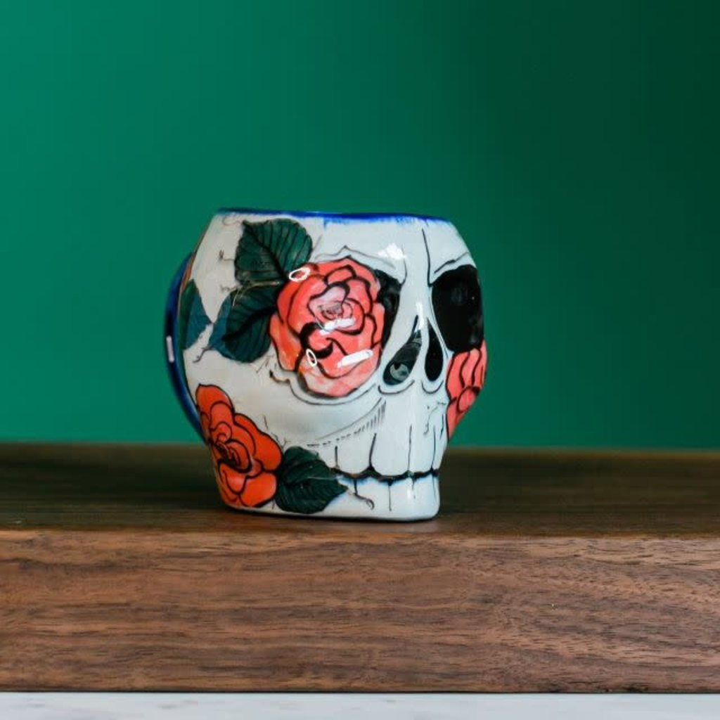 Lucia's Imports Guatemalan Sugar Skull Rose Mug