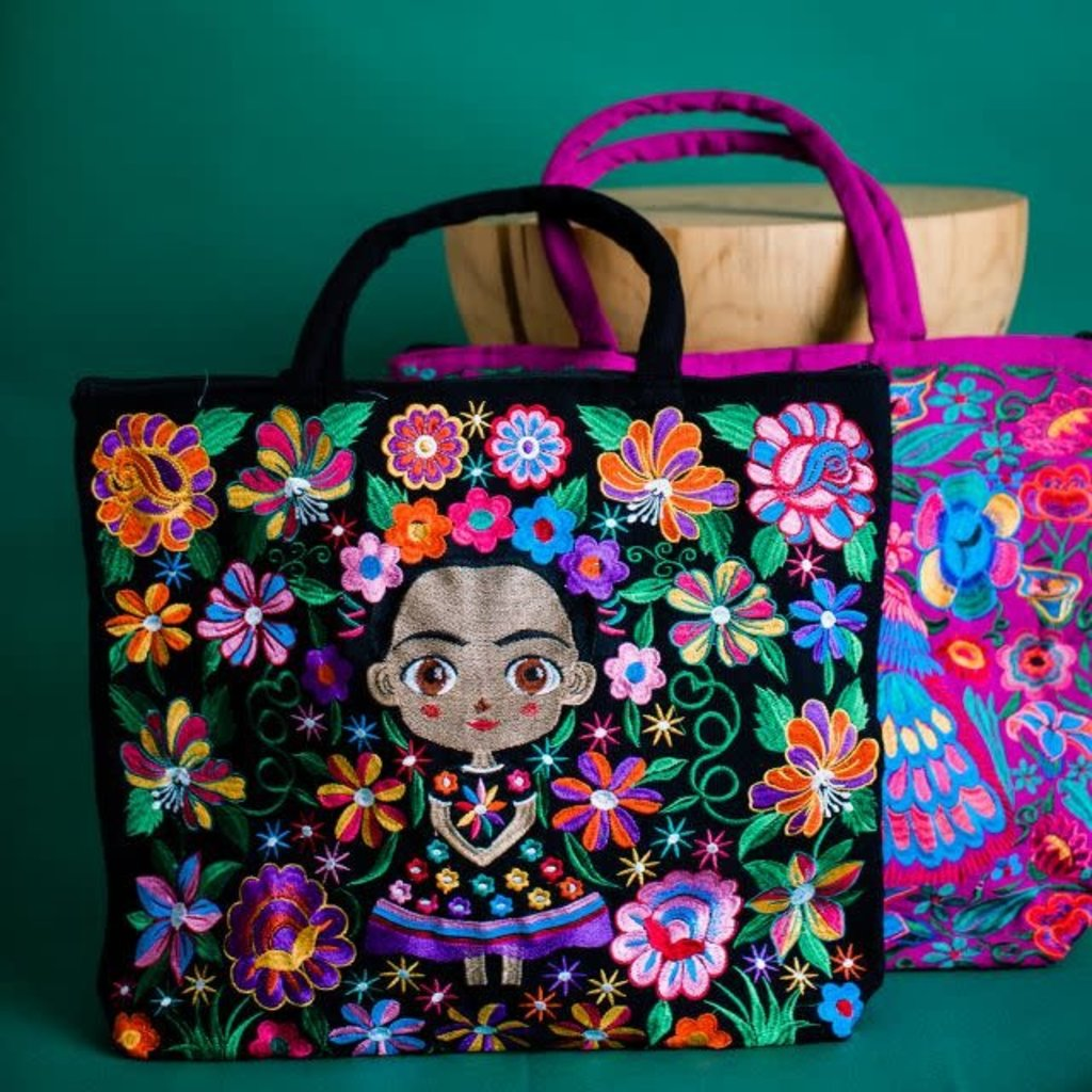 Lucia's Imports Baby Frida Embroidered Tote Bag