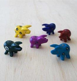Venture Imports Tiny Soapstone Animal Pig