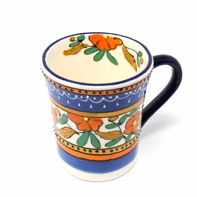 Global Crafts Flared Orange Flower Mug