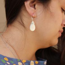 Women's Peace Collection Mother of Pearl Teardrop Sterling Earrings