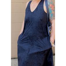 Global Mamas Oaklynn Batik Marble Black Organic Cotton Dress