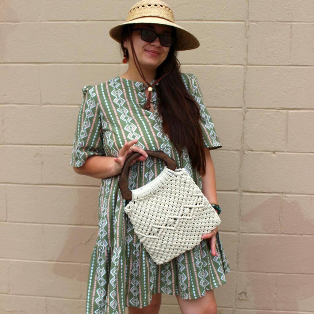 Tula Hats Palm Fiber Lattice Hat - One Size Fits All