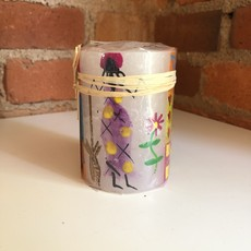 Thumbprint Artifacts African Ladies Pillar Candle 3x4