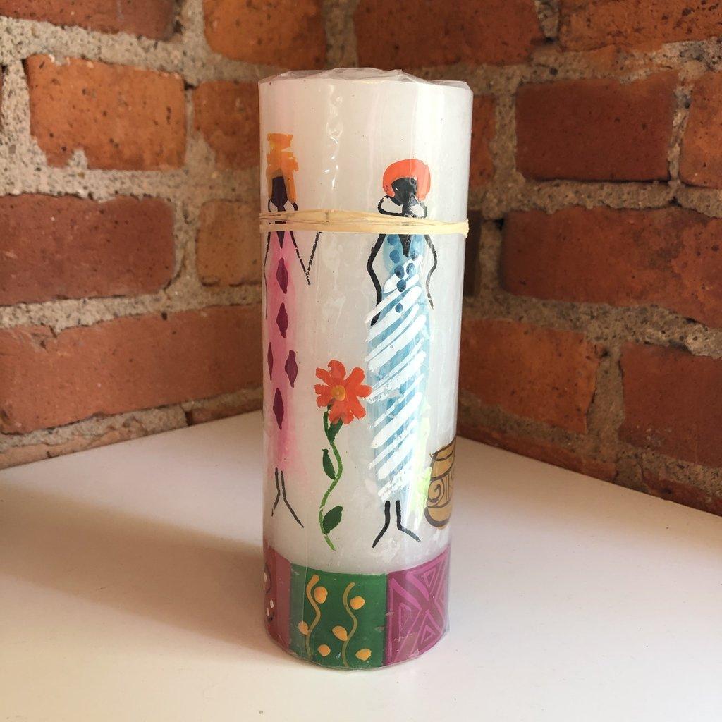 Thumbprint Artifacts African Ladies Pillar Candle 3x8