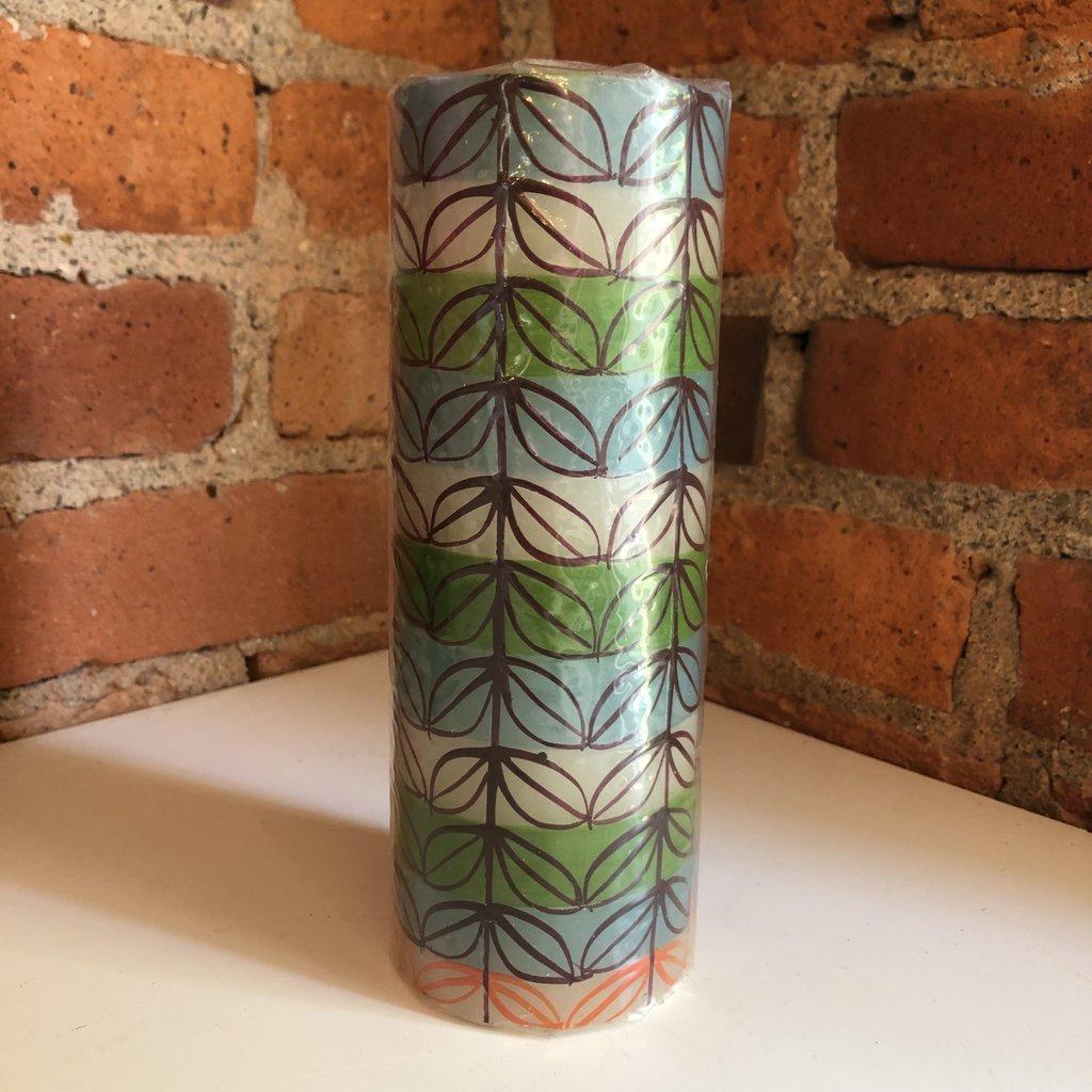 Thumbprint Artifacts Magic Garden Pillar Candle 3x8