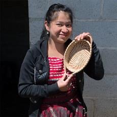Mayan Hands Zoila Pine Needle and Wild Grass Basket