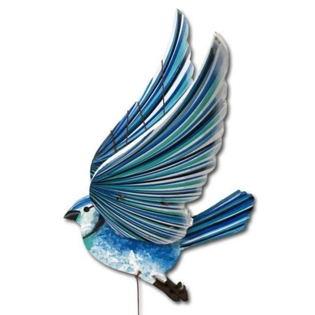Tulia's Artisan Gallery Flying Mobile: Blue Jay