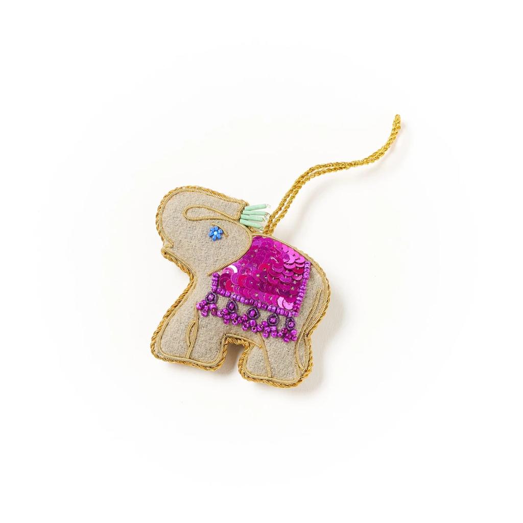 Matr Boomie Larissa Plush Ornament: Trunk Up Elephant