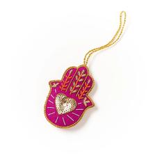 Matr Boomie Larissa Plush Ornament: Hamsa