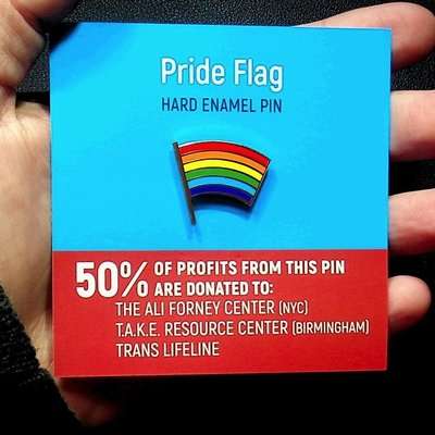 Microcosm Pride Flag Hard  Enamel Pin