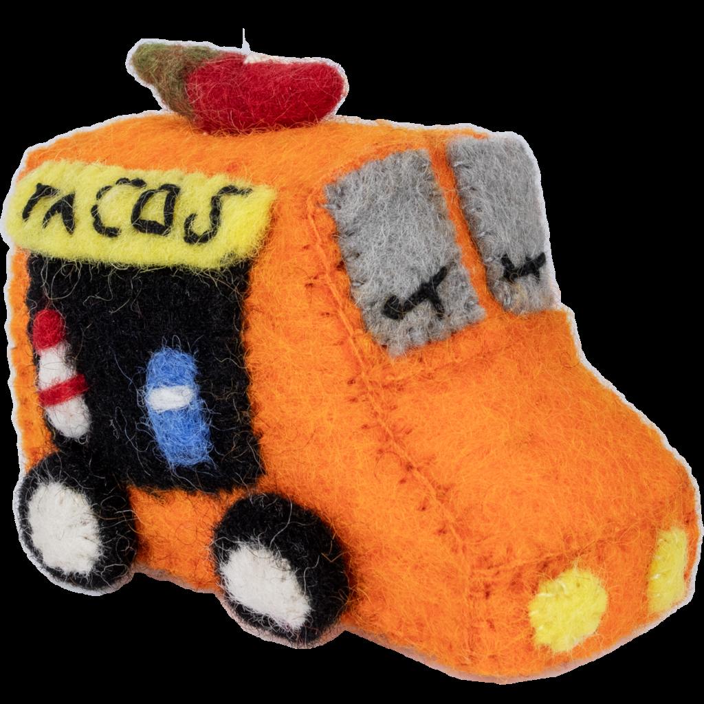 DZI Handmade Felt Taco Truck Ornament