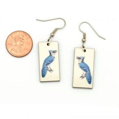 Dunitz & Co Blue Jay Vintage Dangle Earrings