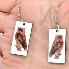 Dunitz & Co Owl Vintage Dangle Earrings