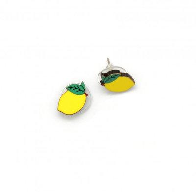 Dunitz & Co Lemon Stud Earrings