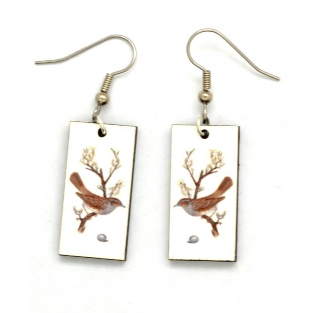 Dunitz & Co Bird & Egg Vintage Dangle Earrings