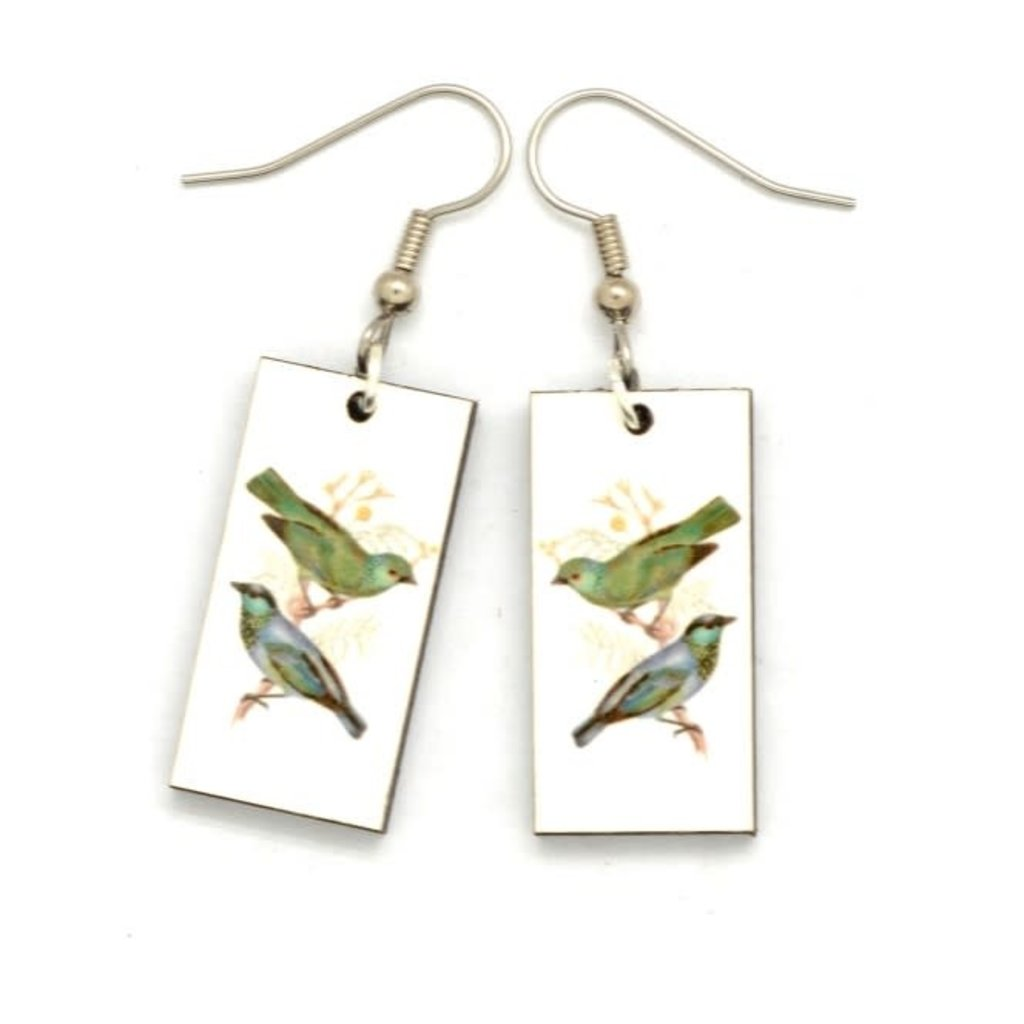 Dunitz & Co Green Bird Vintage Dangle Earrings