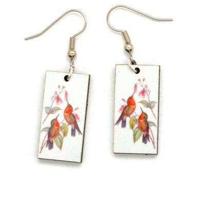 Dunitz & Co Two Hummingbirds Vintage Dangle Earrings