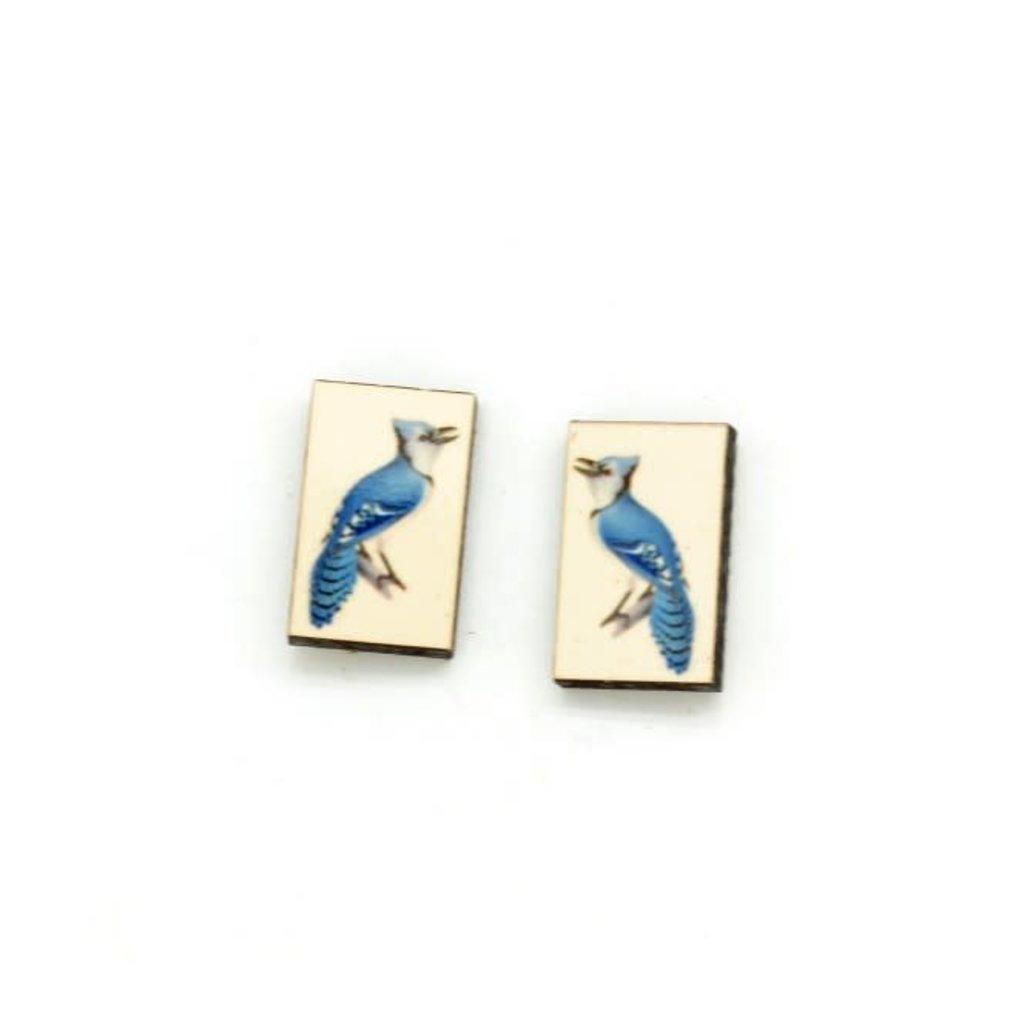 Dunitz & Co Blue Jay Vintage Stud Earrings