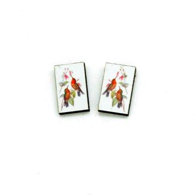 Dunitz & Co Two Hummingbirds Vintage Stud Earrings