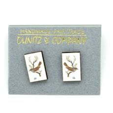 Dunitz & Co Bird & Egg Vintage Stud Earrings