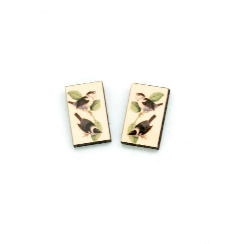 Dunitz & Co Chickadee Vintage Stud Earrings