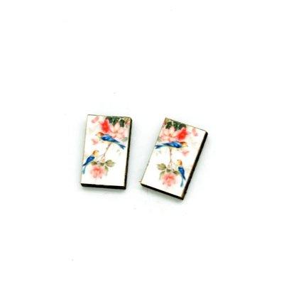 Dunitz & Co Bluebird Vintage Stud Earrings