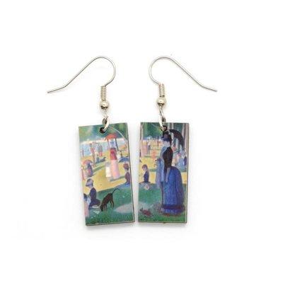 Dunitz & Co Grand Jatte Art Dangle Earrings