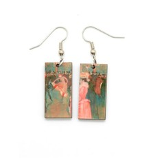 Dunitz & Co Moulin Rouge Art Dangle Earrings