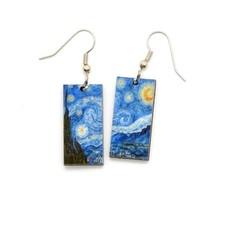 Dunitz & Co Starry Night Art Dangle Earrings