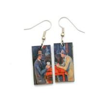 Dunitz & Co Card Player Art Dangle Earrings