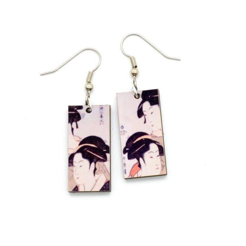 Dunitz & Co Three Beauties Art Dangle Earrings