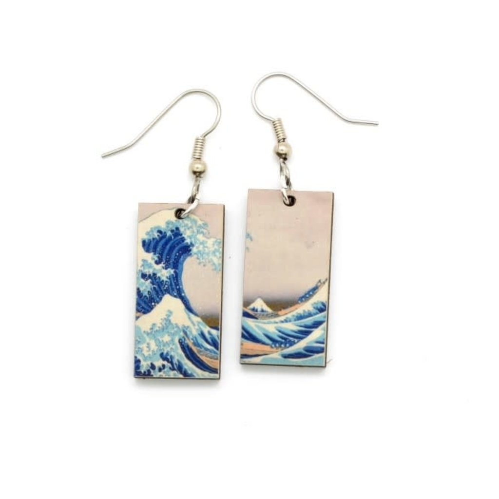 Dunitz & Co Wave Art Dangle Earrings