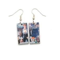 Dunitz & Co Folies Bar Jatte Art Dangle Earrings