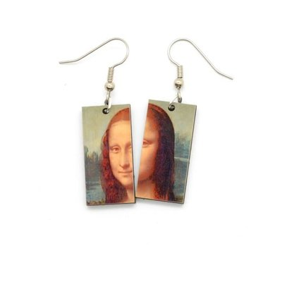 Dunitz & Co Mona Lisa  Art Dangle Earrings