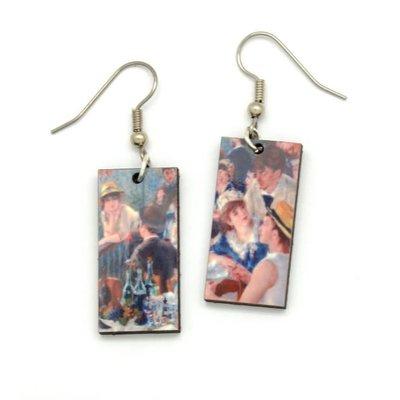 Dunitz & Co Boating Party Art Dangle Earrings