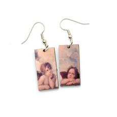 Dunitz & Co Two Angel Art Dangle Earrings