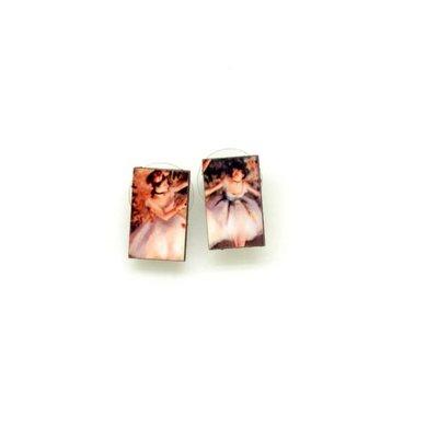 Dunitz & Co Ballerina Art Stud Earrings