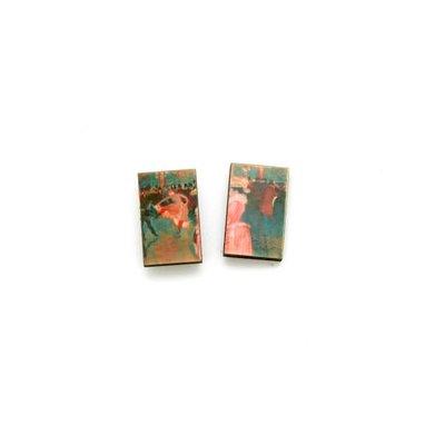 Dunitz & Co Moulin Rouge Art Stud Earrings