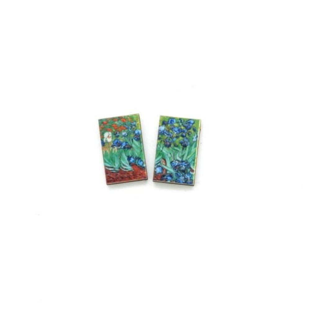 Dunitz & Co Iris Art Stud Earrings